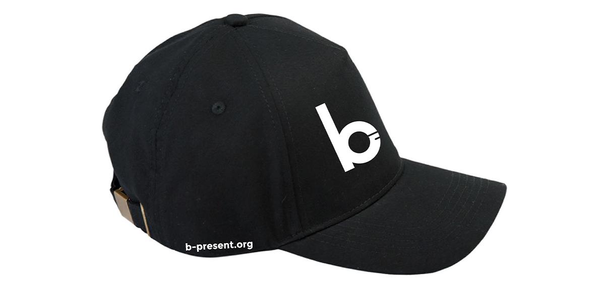 b-present Baseball Cap